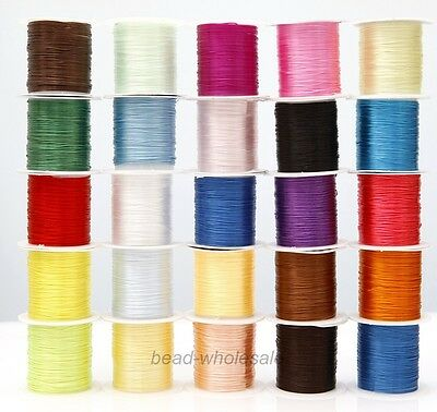 25 Color Strong Stretchy Crystal Elastic Cord Rope String Beading Bracelet 10M 6