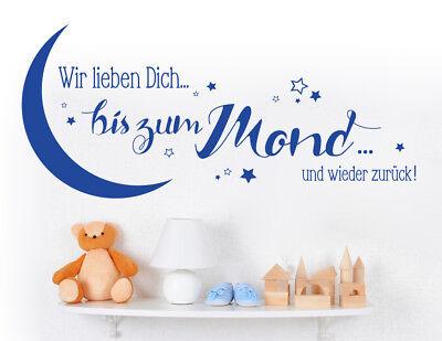 Dekoration Kinderzimmer Wandspruch Wandaufkleber Wandtattoo Wir Lieben Dich Bis Zum Mond Mobel Wohnen Blog Vr Com Br