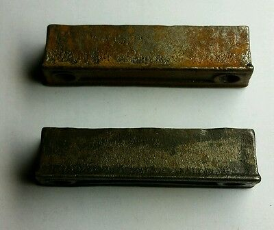 PAIR of 3 inch Cast Iron Door Rim Lock Keeper  Catch Strike Plate ( 4b)