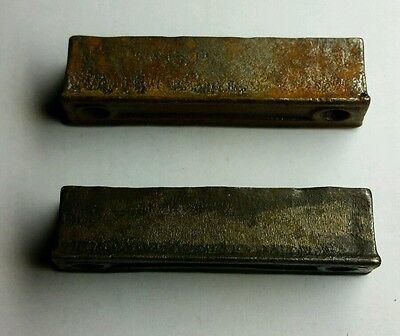 PAIR of 3 inch Cast Iron Door Rim Lock Keeper  Catch Strike Plate (#2) 3