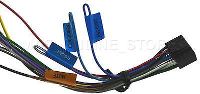 kenwood kdc-x596 kdcx596 kdc-x598 kdcx598 genuine wire harness *ships  today*
