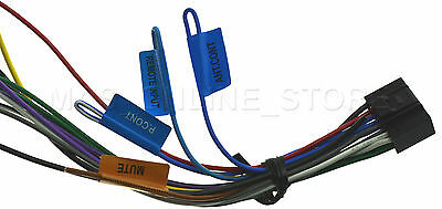KENWOOD KDC-348U KDC348U Kdc-352U Kdc352U Genuine Wire ... on car amplifier wiring diagram, car stereo wiring diagram, marine stereo wiring diagram, kenwood kdc plug diagram, pioneer premier wiring diagram, head unit wiring diagram, pioneer amp wiring diagram, cd player wiring diagram,