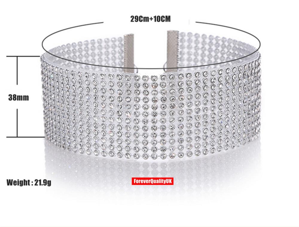 Fashion Women Full Diamond Crystal Rhinestone Choker Necklace Wedding Jewellery 5
