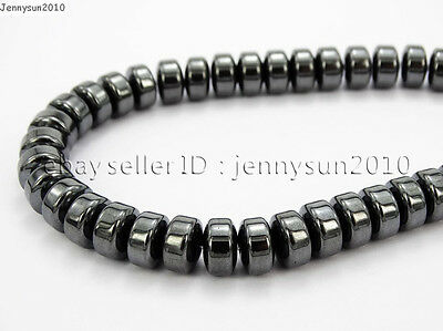 Hematite Gemstone Rondelle Spacer Beads 16'' 2mm 3mm 4mm 6mm 8mm Smooth Faceted 10