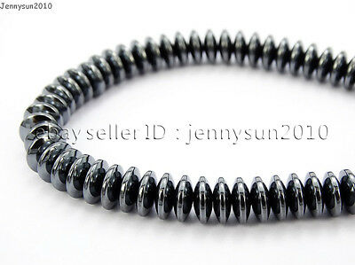 Hematite Gemstone Rondelle Spacer Beads 16'' 2mm 3mm 4mm 6mm 8mm Smooth Faceted 11