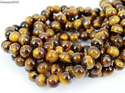Natural Tiger's Eye Gemstone Round Beads 15.5'' 4mm 6mm 8mm 10mm 12mm 14mm 16mm 4
