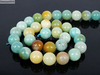 Natural Colorful Amazonite Gemstone Round Beads 16'' 4mm 6mm 8mm 10mm 12mm 14mm 6