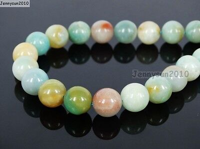 Natural Colorful Amazonite Gemstone Round Beads 16'' 4mm 6mm 8mm 10mm 12mm 14mm 4