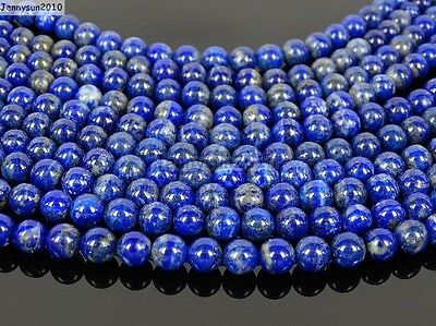 Natural Lapis Lazuli Gemstone Round Beads 15.5'' 2mm 3mm 4mm 6mm 8mm 10mm 12mm 4