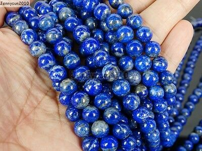 Natural Lapis Lazuli Gemstone Round Beads 15.5'' 2mm 3mm 4mm 6mm 8mm 10mm 12mm 6