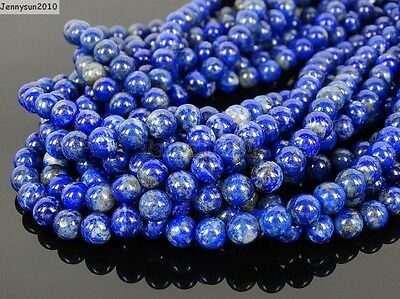 Natural Lapis Lazuli Gemstone Round Beads 15.5'' 2mm 3mm 4mm 6mm 8mm 10mm 12mm 5