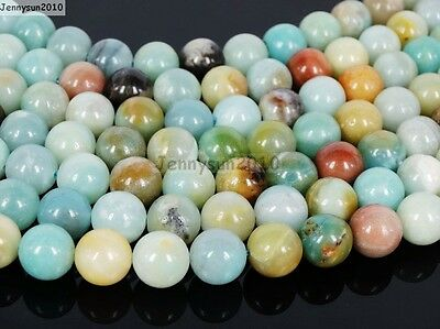 Natural Colorful Amazonite Gemstone Round Beads 16'' 4mm 6mm 8mm 10mm 12mm 14mm 3