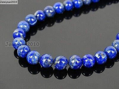 Natural Lapis Lazuli Gemstone Round Beads 15.5'' 2mm 3mm 4mm 6mm 8mm 10mm 12mm 2