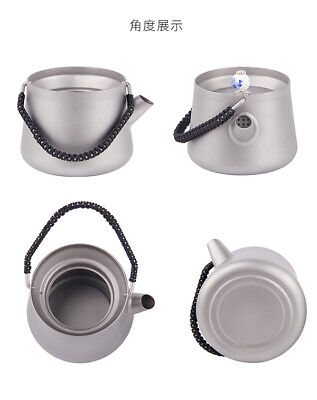 Pure Titanium Kung Fu Tea Container Hand pot Teapot cup With Filter Strainer 7