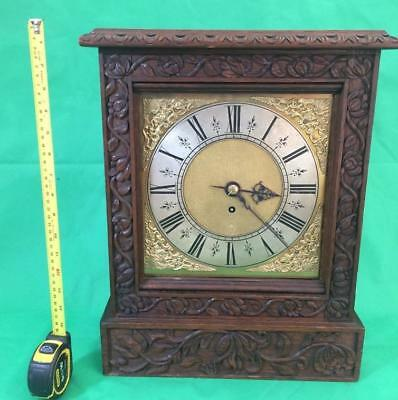 Antique 8 Day Fusee Bracket Clock With Tudor Style Case And Rococo Spandrels 8