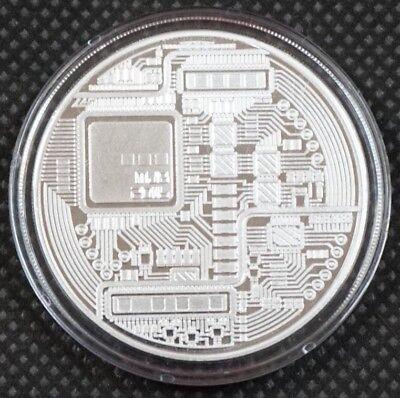 Bitcoin Proof 1 oz .999 fine Solid silver commemorative AOCS limited 2016 w/ COA 4