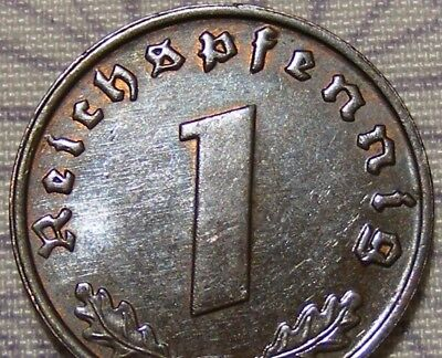 SWASTIKA copper penny ww2 .The real coin,no fakes nazi 7