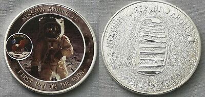 Apollo Astronaut Silver Coin Moon Landing Neil Armstrong Space Exploration NASA 2