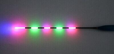 schwarz 1x Elektro Pose LED Nachtangeln Pose 1x Batterie