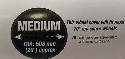 "Trailer Spare Wheel Cover Weather Proof 10"" Rim 20"" Diameter Maypole Mp94710 4"