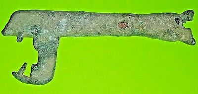 MEDIEVAL KEY 1100 AD-1400 AD large genuine antique tool for lock treasure box G
