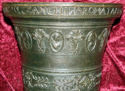 Italien Bronze Mörser Apotheke Postament Sizilien Catania Zanghi 1520 / 1820 9