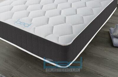 Black Memory Foam Spring Mattress - 3ft Single 4ft6 Double 5ft King 6ft Super K 2