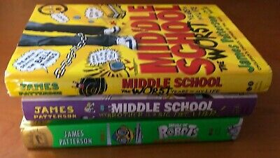 3 James Patterson Middle School Worst Years, Big Fat Liar & House of Robots 12