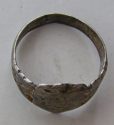 ANCIENT Rome Byzantium Sterling Silver Mens Ring Stamp 5-6 century #AR589-593 4