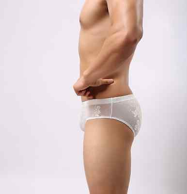 SLIP blanc dentelle tour de taille 68 - 98 cm sexy gay int taille M 3