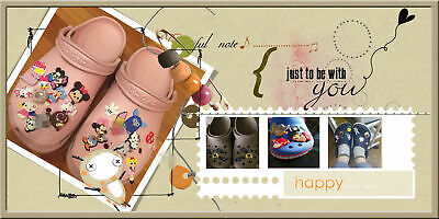 Clog Shoe Plug Button Charm Accessories Pink Minnie Mouse 6