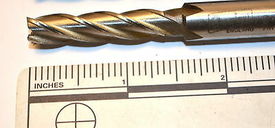 """2 NOS QUALCUT 7.5mm 4 Flt HSS X-Long END MILL OAL 3-1//8/"""" 10mm Screw Shank WR3A11"""
