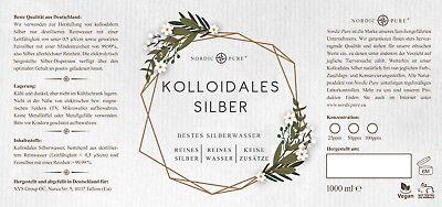 Kolloidales Silber (Silberwasser), 50 ppm in Apotheker-Glasflasche (250-1000 ml) 3