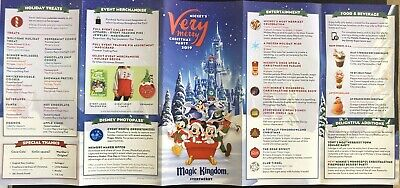 NEW Mickey's Very Merry Christmas Party MVMCP 2019 Park Map + Bonus Map!! WDW 4