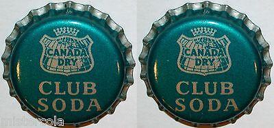 Soda pop bottle caps POMEROYS QUININE Lot of 2 cork lined unused new old stock