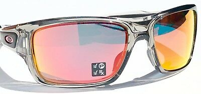 12f07b2158 ... NEW  Oakley TURBINE Grey Ink frame POLARIZED Ruby Iridium Lens Sunglass  9263-10 9