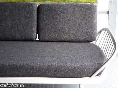 Cushions & Covers Only. Ercol Studio Couch/Daybed.  Charcoal Grey Stitch 10