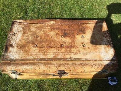 Shabby chic Vintage Antique Indian Travelling Suitcase Case Box Chest Display 2