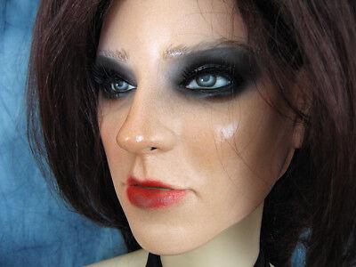 Latexmaske KEIRA B+WIMPERN +PERÜCKE Real. Frauenmaske Gesicht Trans Crossdresser 5
