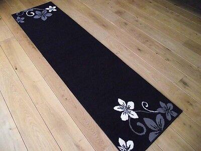 Extra Long Short Black Cream Dark Hall Hallway Floor Carpets Runners Mats Rugs 3