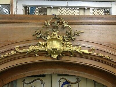 Arched Wood Doorway Insert With Bronze Detail 2