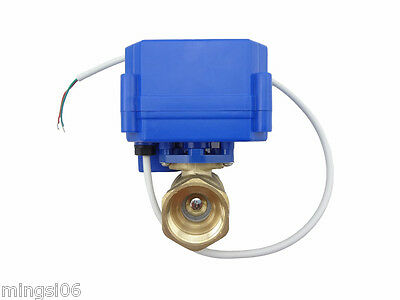 1x motorized ball valve 12V,DN20,with manual switch,2 way,electrical valve,brass 4