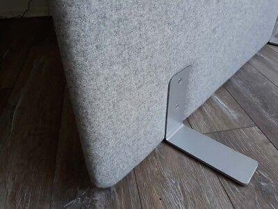 Tisch-Sichtschutz Schallschutz Akustikwand Trennwand Raumteiler Büro 400x1000