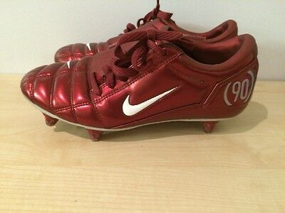 Nike Total 90111 Air Zoom Red Kids Junior Football Boots Uk 6 Eur 40 3