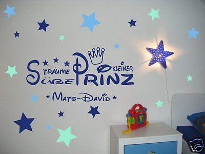 WANDTATTOO NAME KINDERZIMMER, Junge, Baby Süße Träume Sticker ...