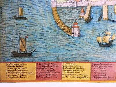 Old Historic Antique Map Visby, Sweden: 1598 by Braun & Hogenberg REPRINT 1500's 4