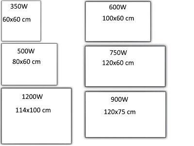 900W Infrarot mit Thermostat TS10 Infrarotheizung mit Bild Hochformat 500W
