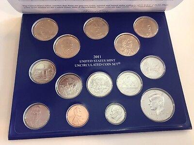 2011 United States Mint Uncirculated Coin Set Denver Philadelphia 28 Coins 8