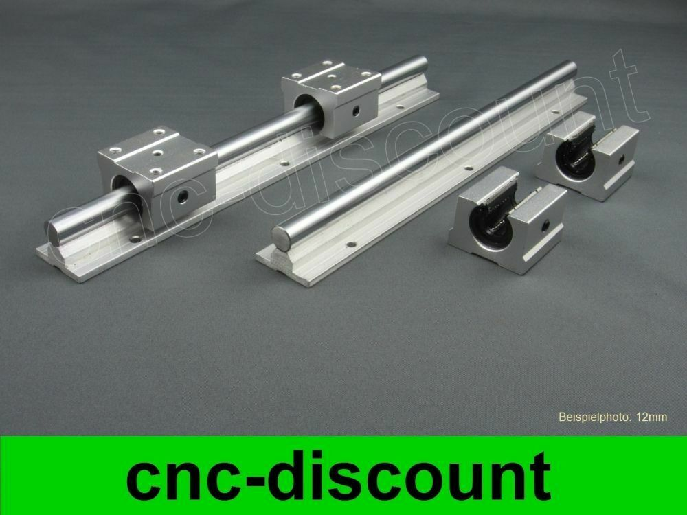 CNC Set 12x 1600mm Linearführung Linear Guide Rail Stage 3D 2