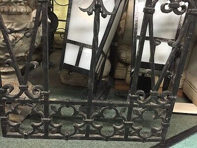 Old Spanish Revival Banded Iron  Window Grids Antique Window Cover 5